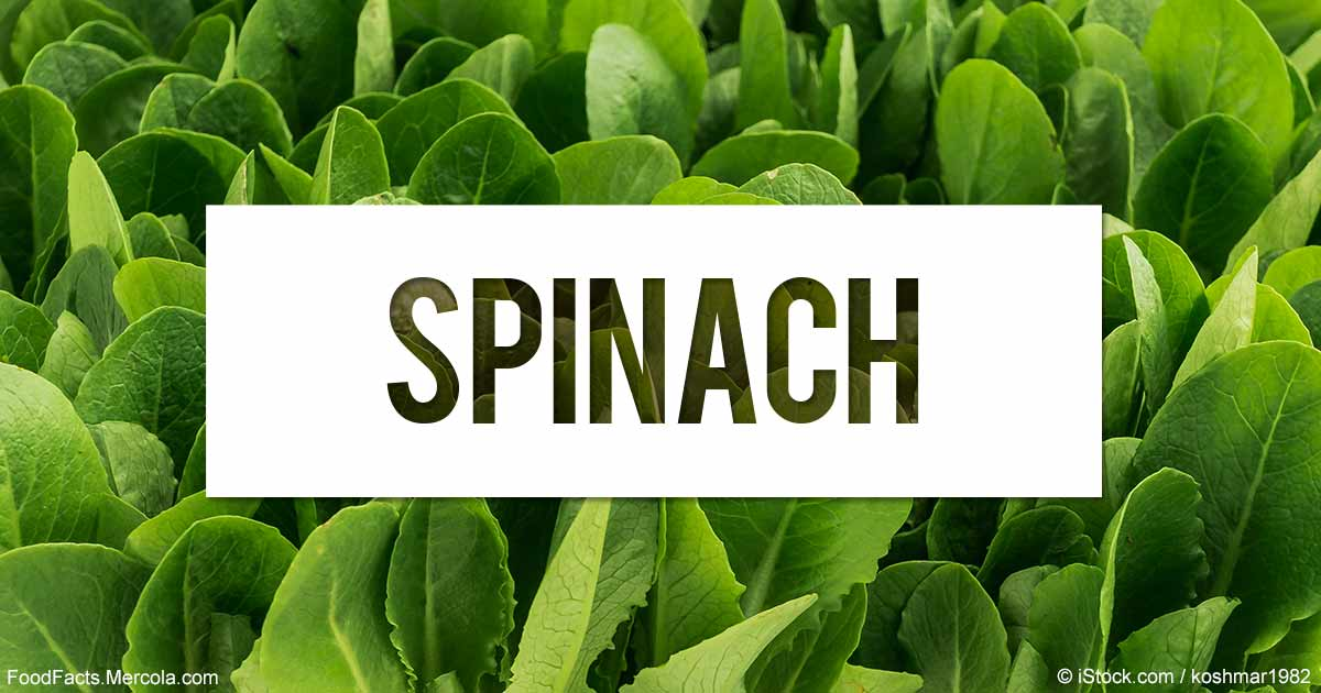 calories and health benefits in spinach
